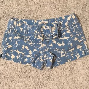 Express   Blue & White Floral Shorts 🦋